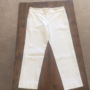 Krazy Larry White Ankle Pants